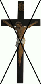 Christ on the Cross — not allowed