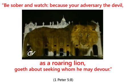 Be sober and watch: because your adversary the devil,  as a roaring lion, goeth about seeking whom he may devour - 1 Peter 5.8