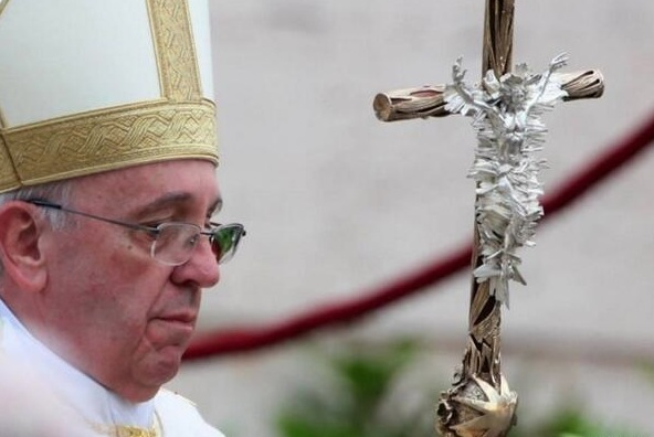 Pope Francis with New Crozier