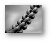 Chains of slavery to sin http://en.wikipedia.org/wiki/File:Broad_chain_closeup.jpg