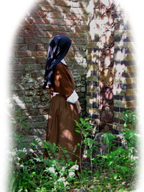 A Consecrated and Cloistered Nun in a Monastery Garden