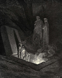 Dore's Depiction of Hell from the Divine Comedy of Dante Allighieri